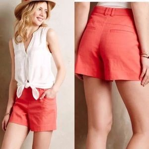 Elevenses Anthropologie Coral Shorts 📌NO OFFERS📌